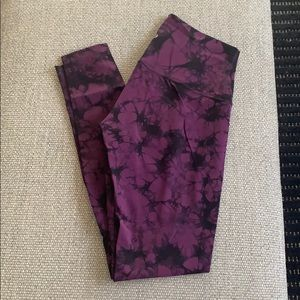 Lululemon Shiboya Tie-Dye Leggings, Size 8